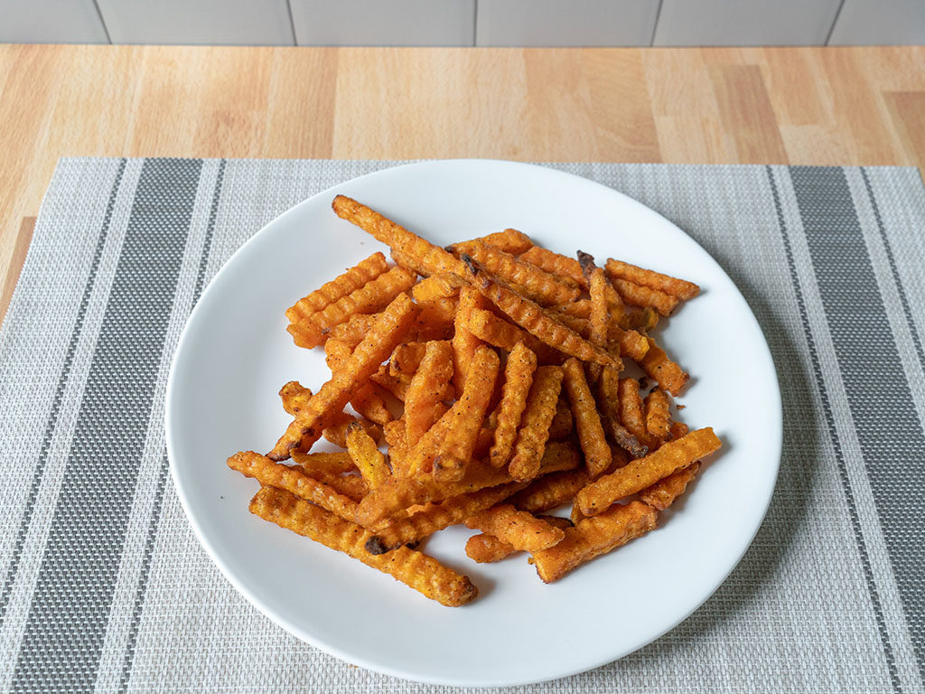 Air fried Alexia sweet potato fries
