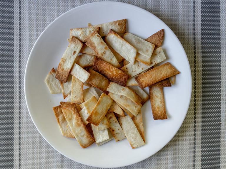 How to make tortilla strips in an air fryer