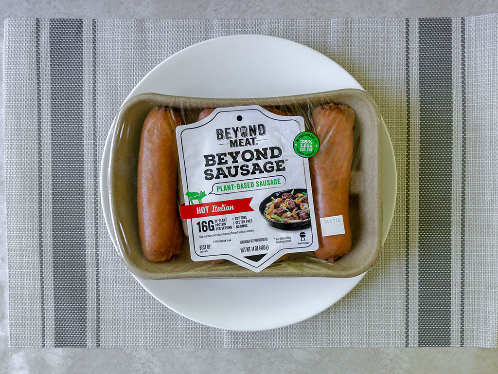 Beyond Meat sausages