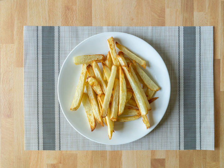 Air fried home made thick cut fries