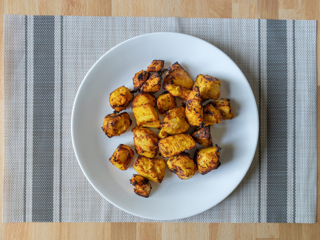 Air fried tandoori chicken tikka