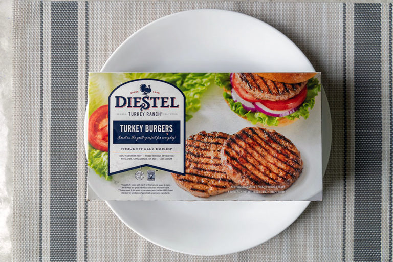 How to air fry Diestel Turkey burgers