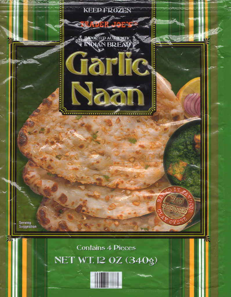 Trader Joe's Garlic Naan package front