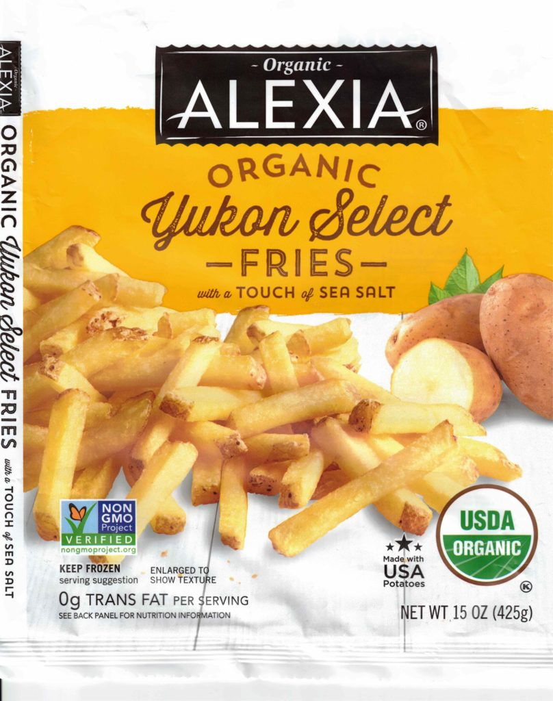 Alexia Organic Yukon Select Fries package front