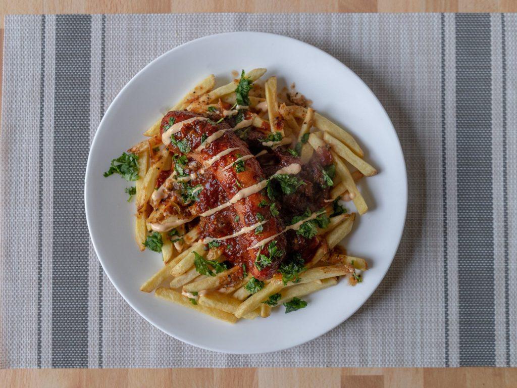 Alexia Organic Yukon Select Fries with bovine and swine sausage copy