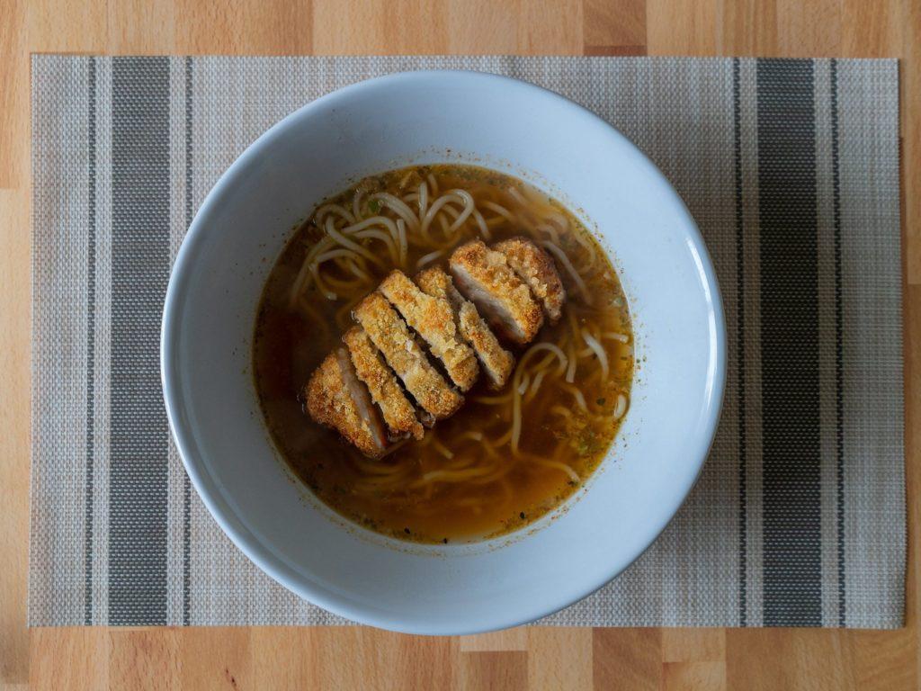 Air fried tonkatsu with ramen