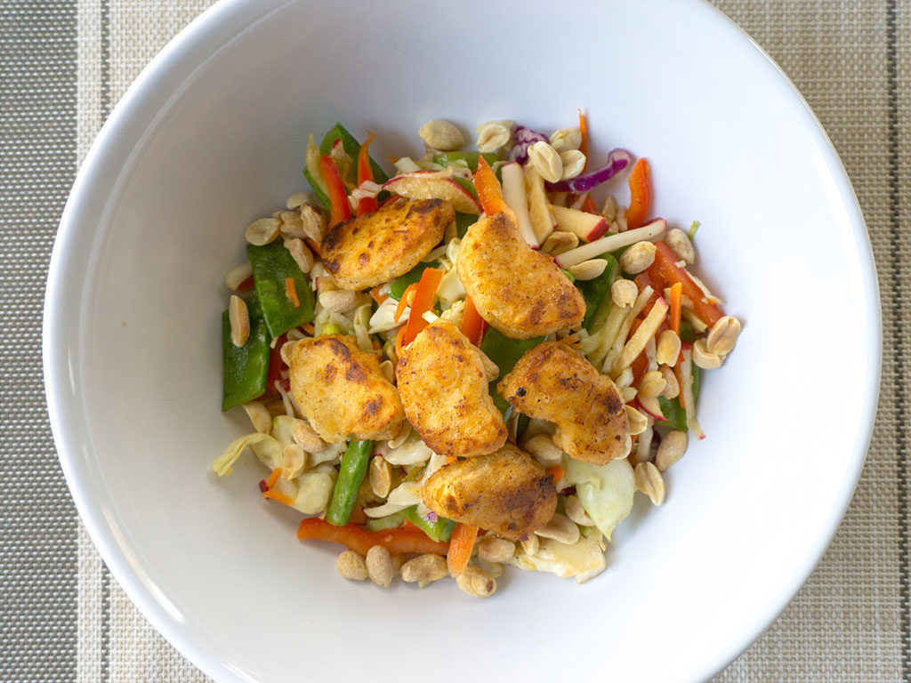 Asian salad with Gardein Crispy Chick'N