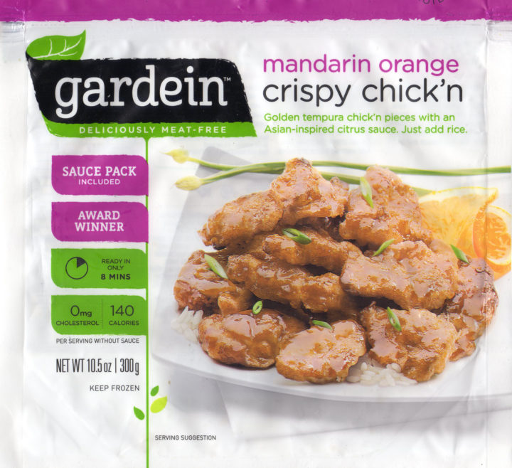 Gardein Mandarin Orange Crispy Chick'n package front