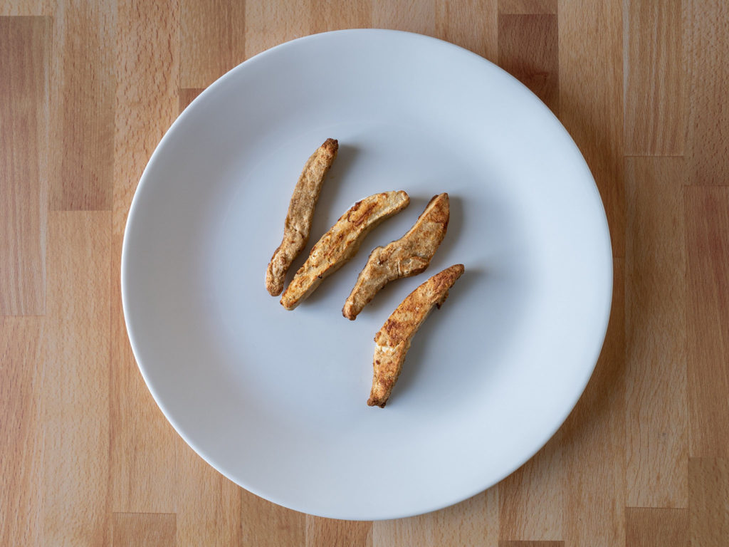 Air fried Gardein Meatless Chick'n Strips