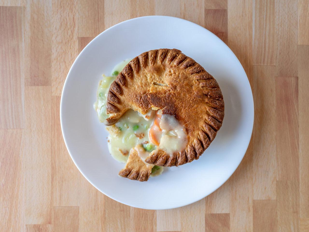 Air fried Marie Callenders Chicken Pot Pie
