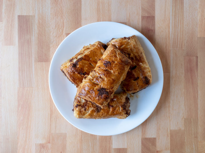 Air fried sausage rolls