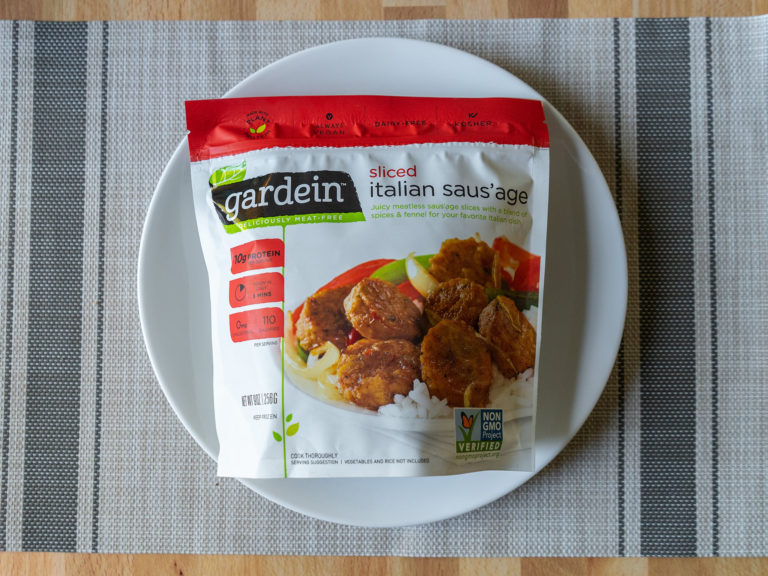 How to air fry Gardein Sliced Italian Saus'age