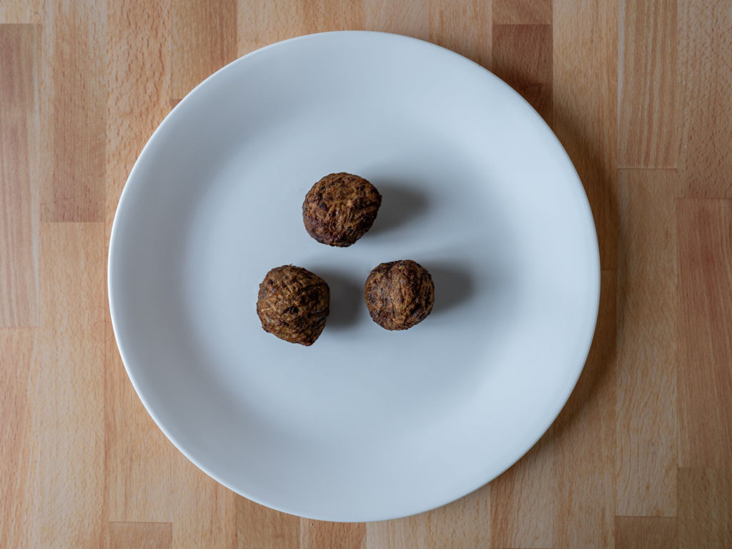Air fried Gardein Classic Meatless Meatballs