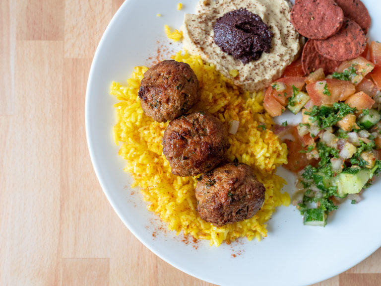 How to make air fried kofta with Lightlife Plant Based Ground