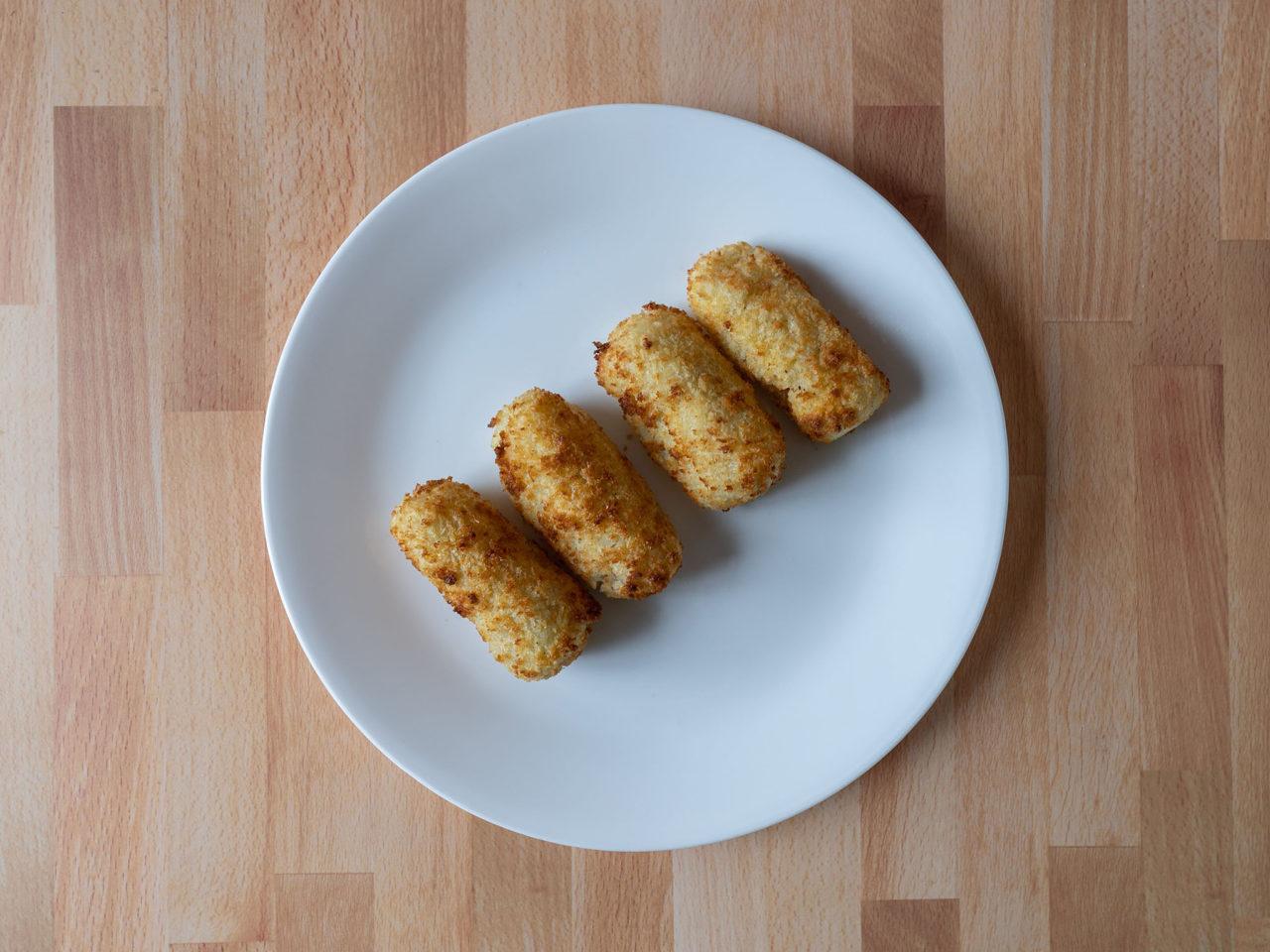 Air fried potato croquettes