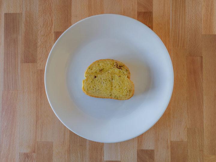 Air fried Great Value Garlic Texas Toast