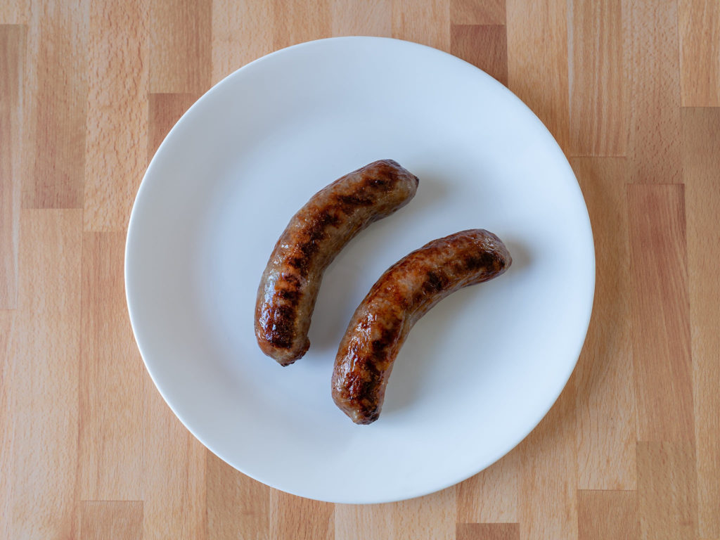 Air fried Johnsonville Brats Original Bratwurst