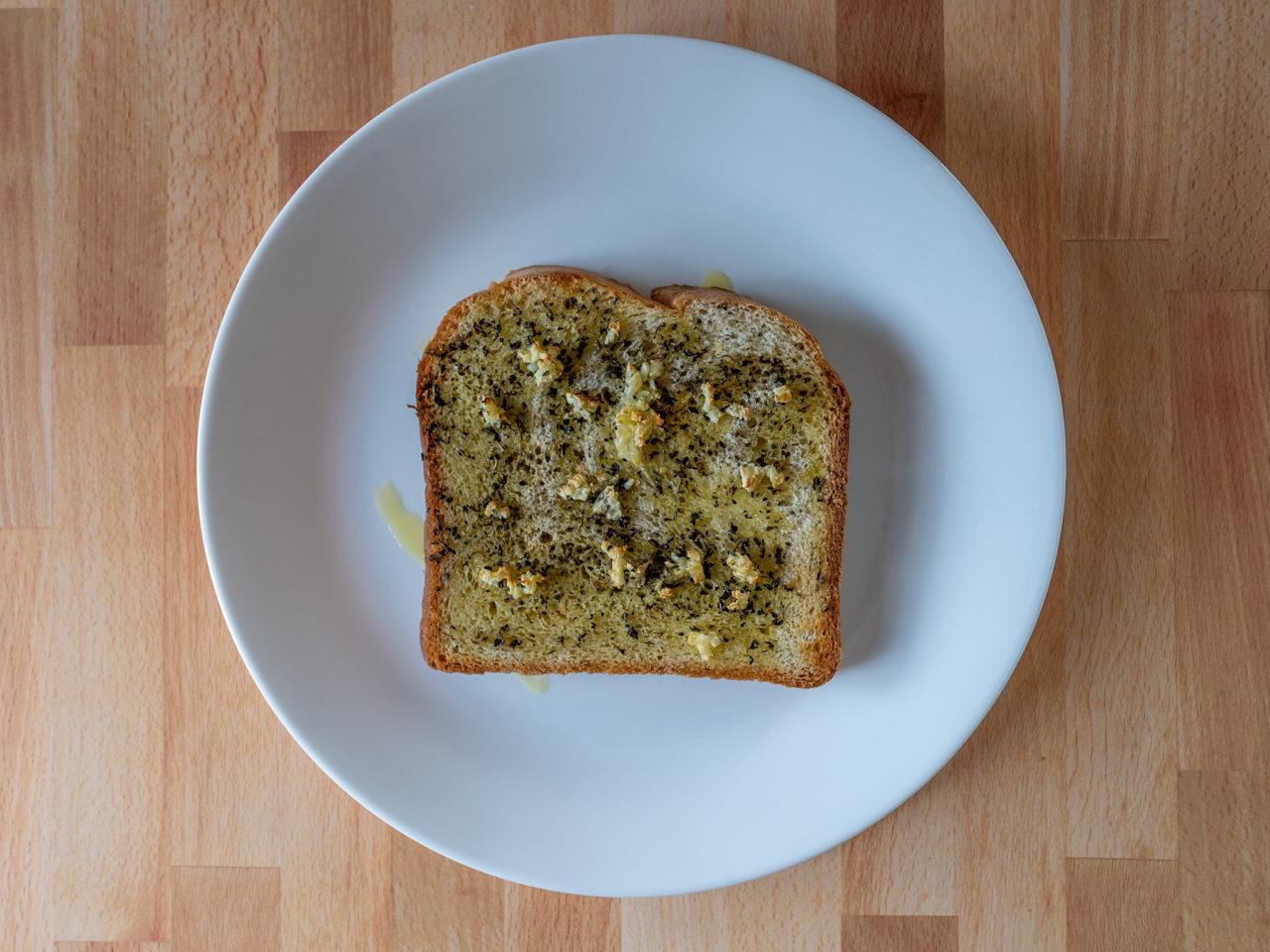 Air fried garlic bread