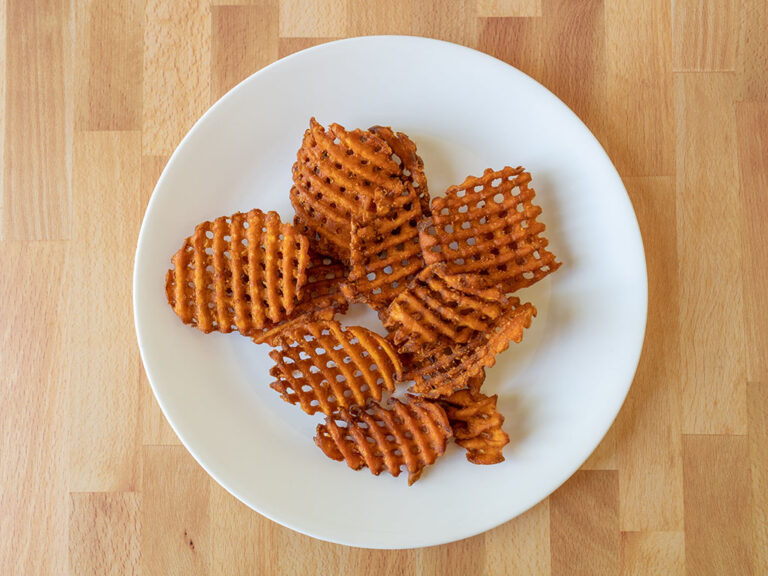 How to reheat Arby's Sweet Potato Waffle Fries using an air fryer