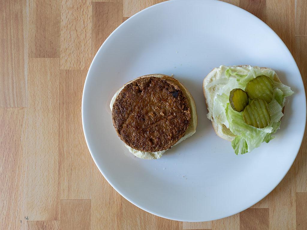 Air fried Sprouts Original Griller Veggie Burgers