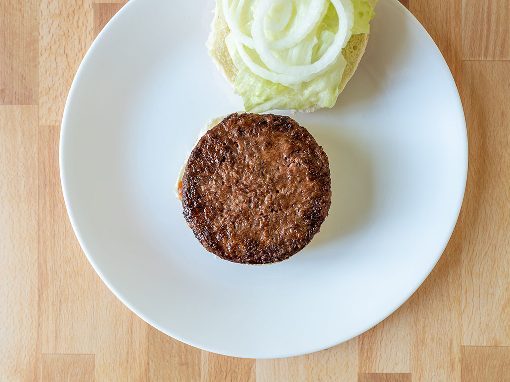 Air fried Gardein Ultimate Plant-Based burger