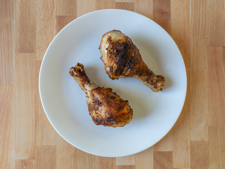 Air fried chicken legs