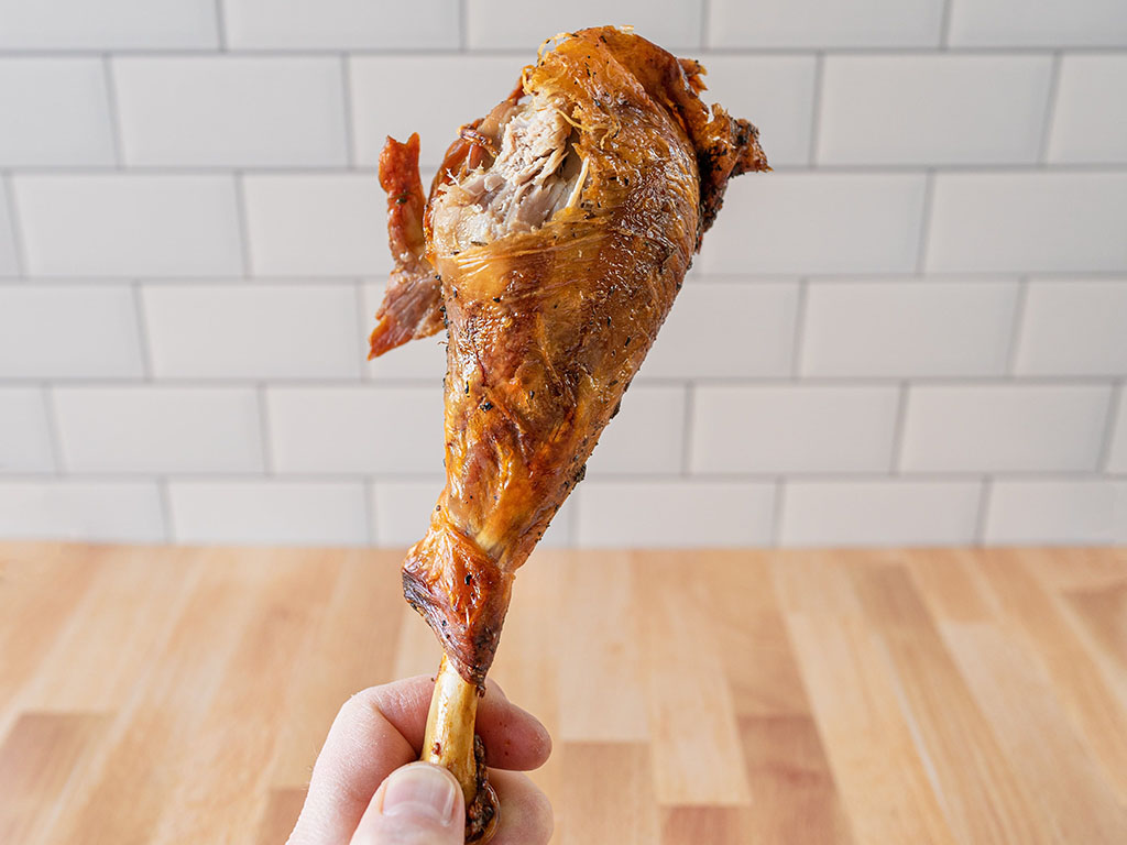 Air fried turkey leg