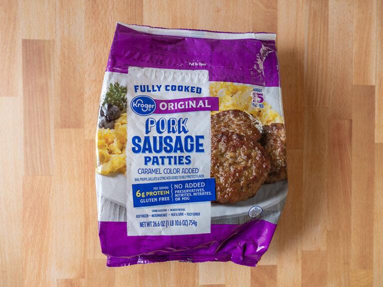 How to cook Kroger Original Pork Sausage Patties in an air fryer