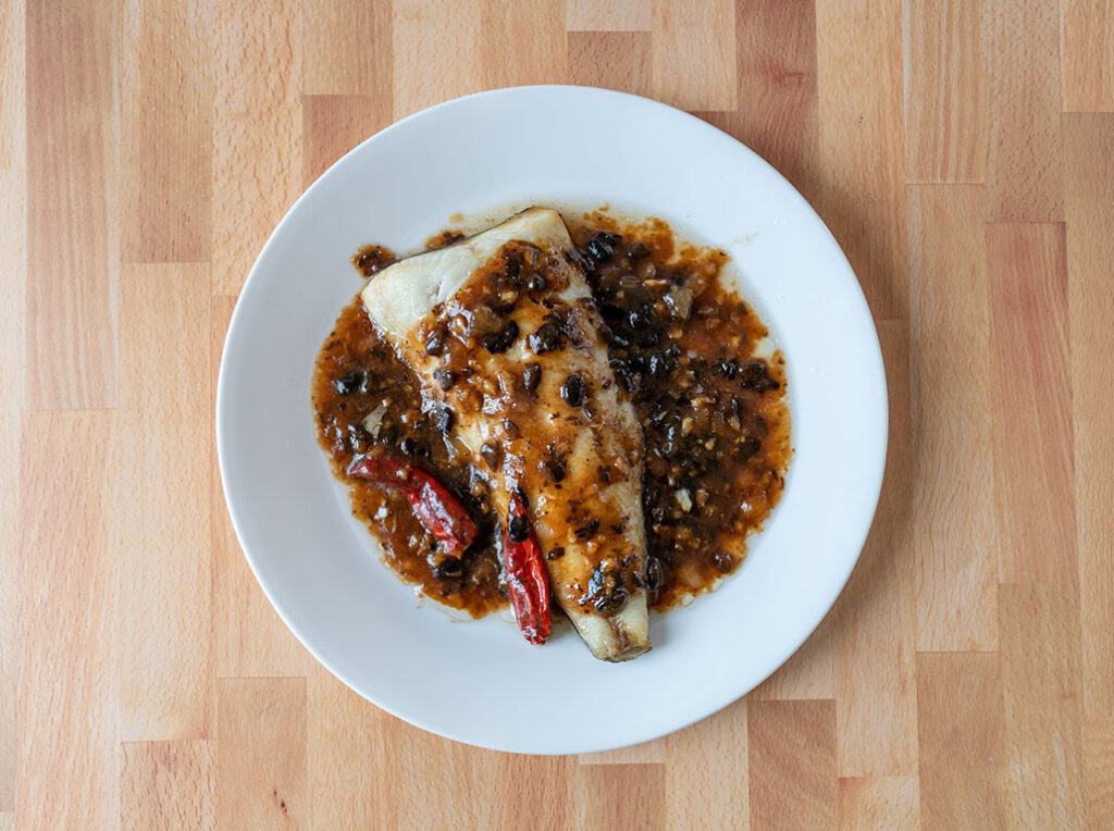 Sablefish in black bean sauce