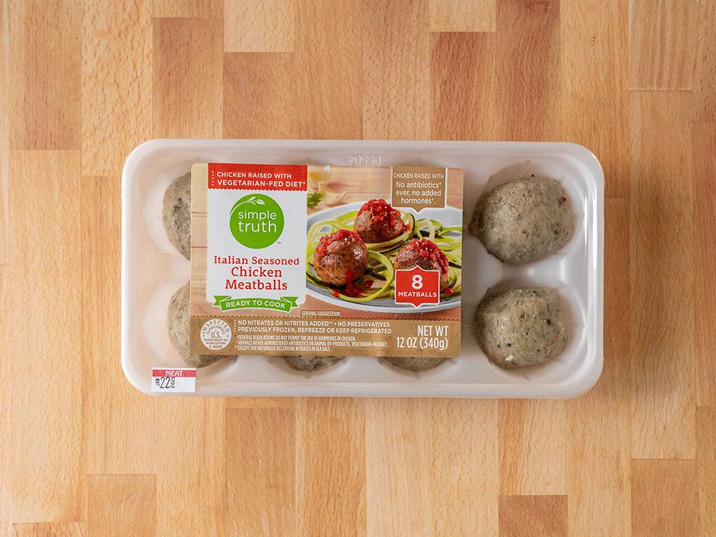 Simple Truth Italian Seasoned Chicken Meatballs