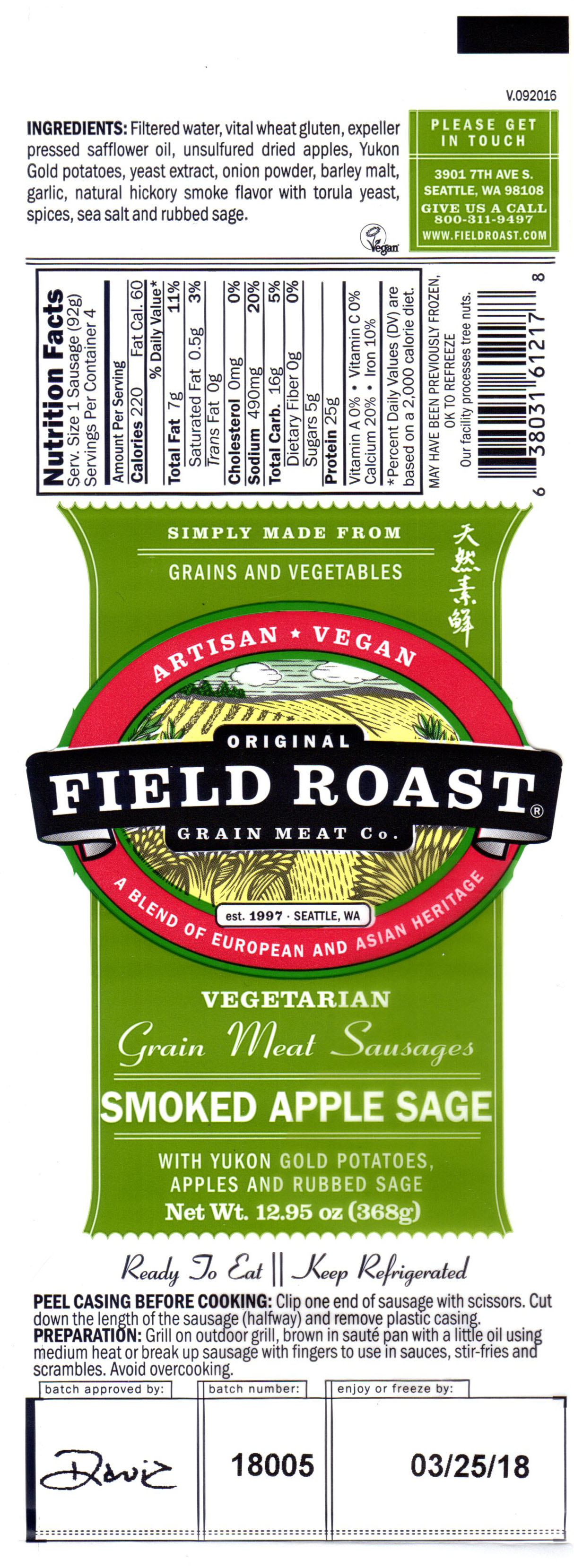 Field Roast Smoked Apple
