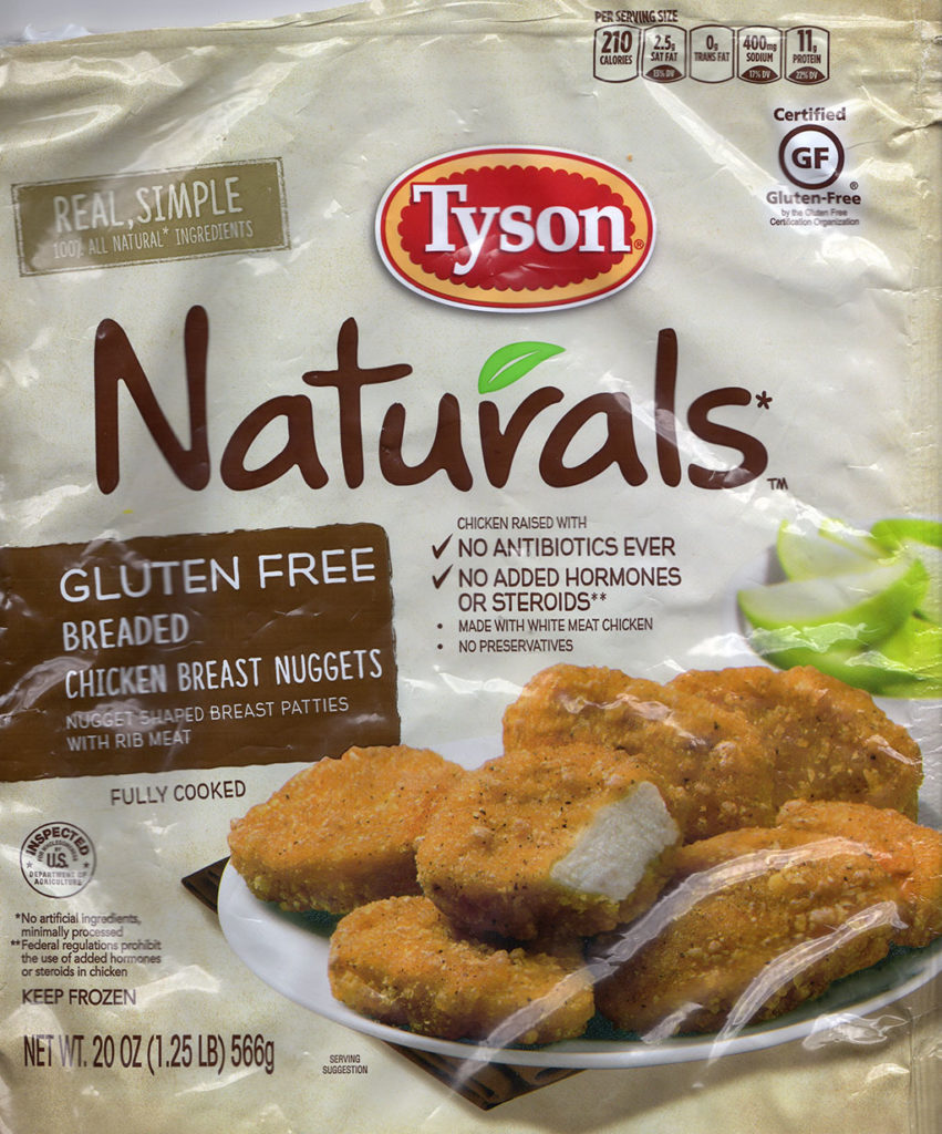 Tyson Naturals Breaded Chicken Breast Nuggets package front